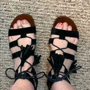 Top shop strap Suede Sandals
